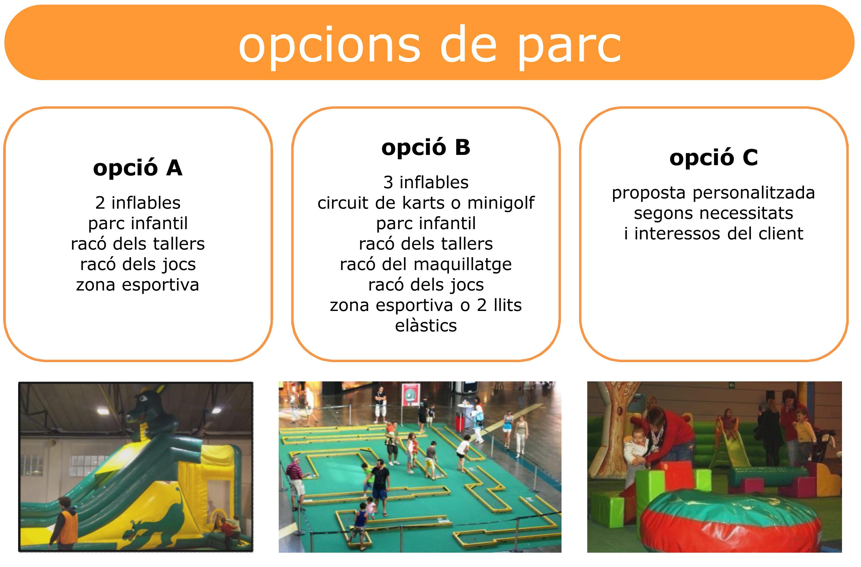 opcions parc