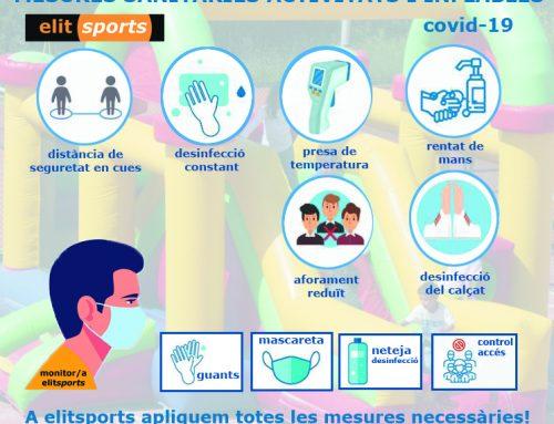 A elitsports prenem totes les mesures sanitàries corresponent al covid-19